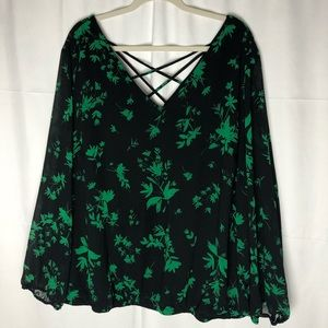 Torrid Plus Size Flora & Fauna Long-Sleeve Blouse